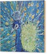 The Rain Peacock's Pride Wood Print