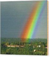 The Rainbow Apartments Wood Print