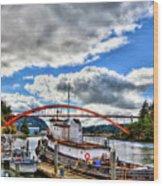 The Rainbow Bridge - Laconner Washington Wood Print