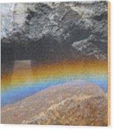The Rainbow Fountain 5-5 Wood Print
