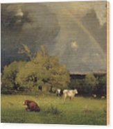 The Rainbow Wood Print by George Inness Senior