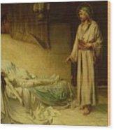 The Raising Of Jairus's Daughter Wood Print by George Percy Jacomb-Hood