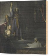 The Raising Of Lazarus Wood Print