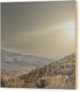 The Range, White Mountains  Wood Print