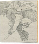 The Rape Of Ganymede Wood Print