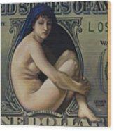 The Rape Of Lady Liberty Wood Print