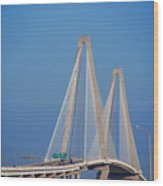 The Ravanel Bridge In Charleston Wood Print