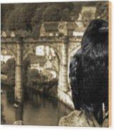 The Raven Of Knareborough Castle Wood Print