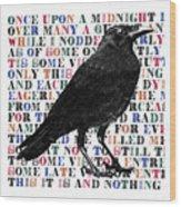 The Raven Poem Art Print Wood Print