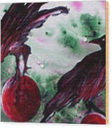 The Raven Still Beguiling Wood Print