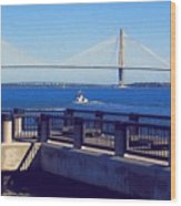 The Ravenel Bridge Wood Print