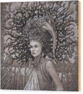 The Ravenous Pregnancy Wood Print