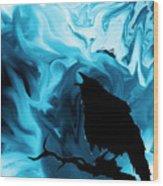 The Raven's Blues Wood Print