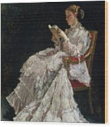 The Reader Wood Print by Alfred Emile Stevens