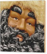 The Real Black Santa Wood Print by Christine Till
