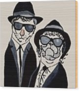 The Real Blues Brothers Wood Print