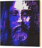The Real Face Of Jesus Wood Print