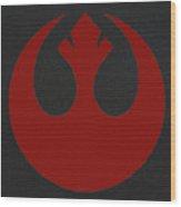 The Rebel Phoenix Wood Print