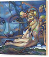 The Rebirth Of Venus Wood Print