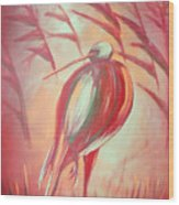 The Red Bird Wood Print