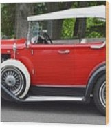 The Red Convertible Wood Print