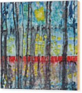 The Red Dock Wood Print