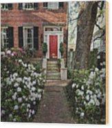 The Red Door - 2 Wood Print