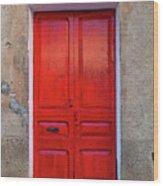 The Red Door. Wood Print