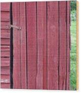 The Red Door Wood Print by Tina B Hamilton