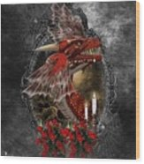 The Red Dragon Wood Print