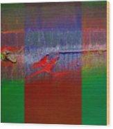 The Red Dragon Tatoo Wood Print