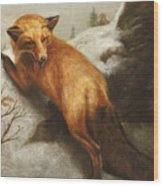 The Red Fox Wood Print