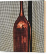 The Red Glass Bottke Wood Print