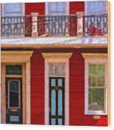 The Red House-nola-faubourg Marigny Wood Print