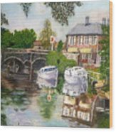 The Red Lion Inn By The Riverbank Wood Print
