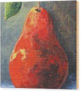The Red Pear II  Wood Print