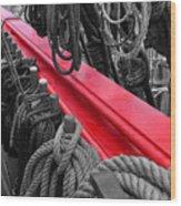 The Red Rail Wood Print