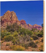 The Red Rock Canyon At Bonnie Springs Ranch Wood Print