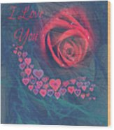 The Red Rose Of Love Wood Print