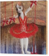 The Red Shoes Wood Print