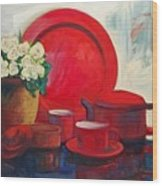 The Red Still Life Wood Print