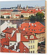The Red Tile Roofs Of Prague Wood Print