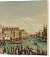 The Redentore Feast In Venice Wood Print