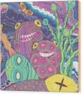 The Reef Wood Print by Wendy Hagelgans