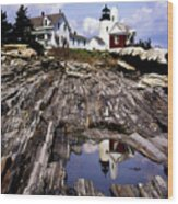 The Reflection At Pemaquid Wood Print