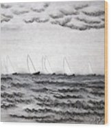 The Regatta Wood Print