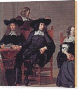 The Regents Of The Old Men And Women Hospital In Amsterdam Wood Print