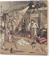 The Religious Vanity Fair Wood Print