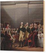 The Resignation Of General George Washington Wood Print