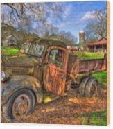The Resting Place Boswell Farm 1947 Dodge Dump Truck Wood Print